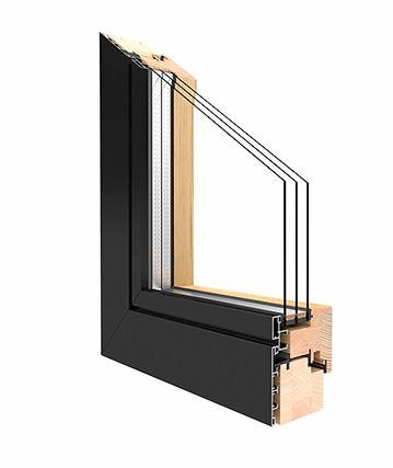 Duoline 68,78 und 88 Holz-Aluminiumfenster