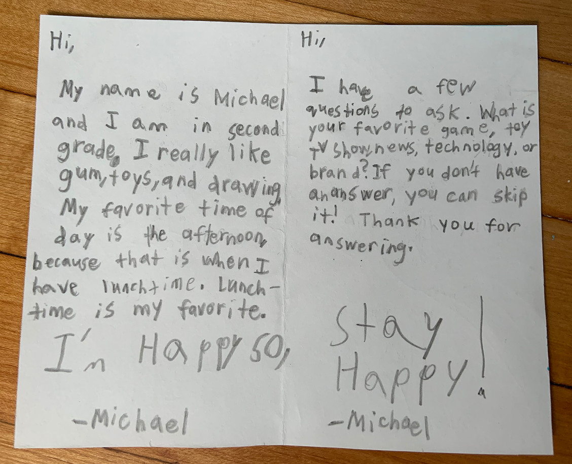 Card by Michael