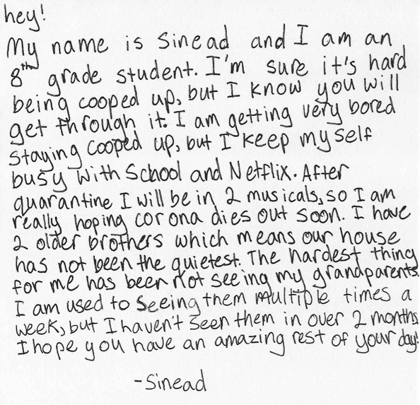 Note by Sinead
