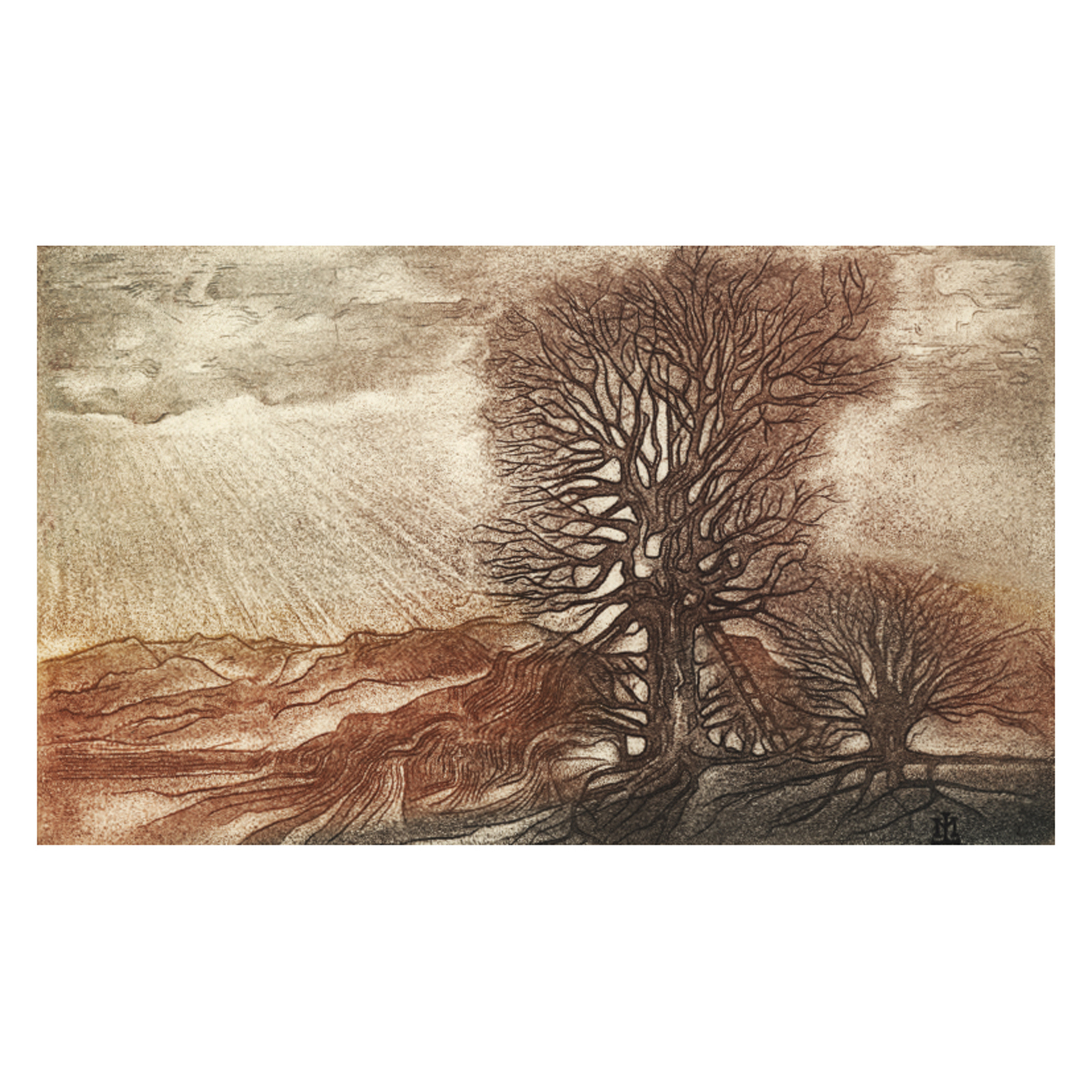 Zwei_Bäume_Radierung_33