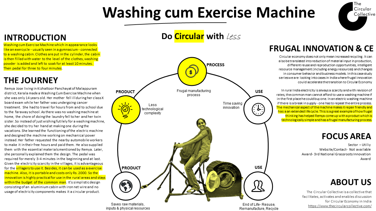 Washing cum exercise machine