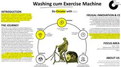 Washing cum exercise machine