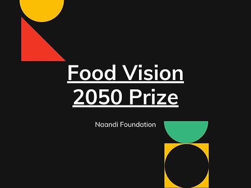 Food Vision 2050 prize for Arakunomics