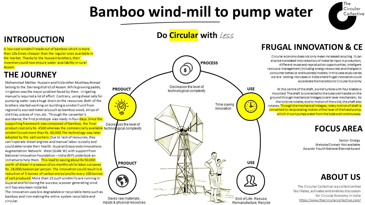 Bamboo windmill