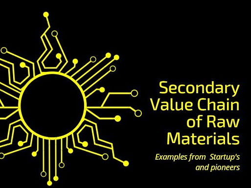 Start-ups & Pioneers in Secondary Value Chain of Raw Materials