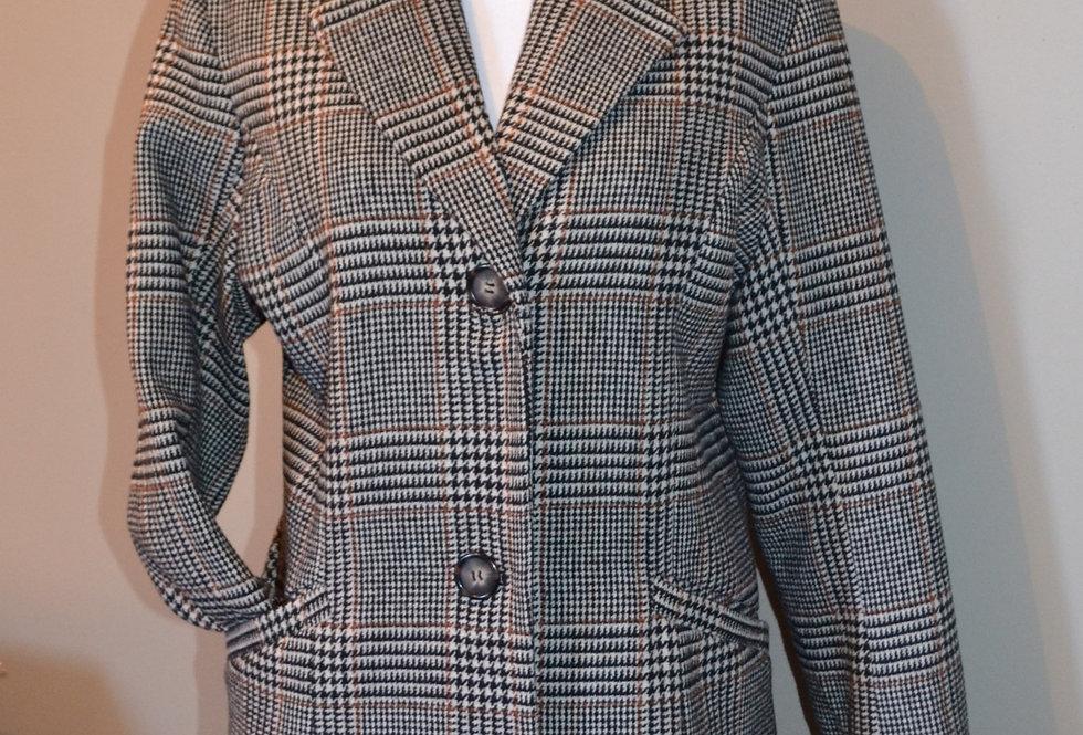 Manteau long à carreaux Jensen