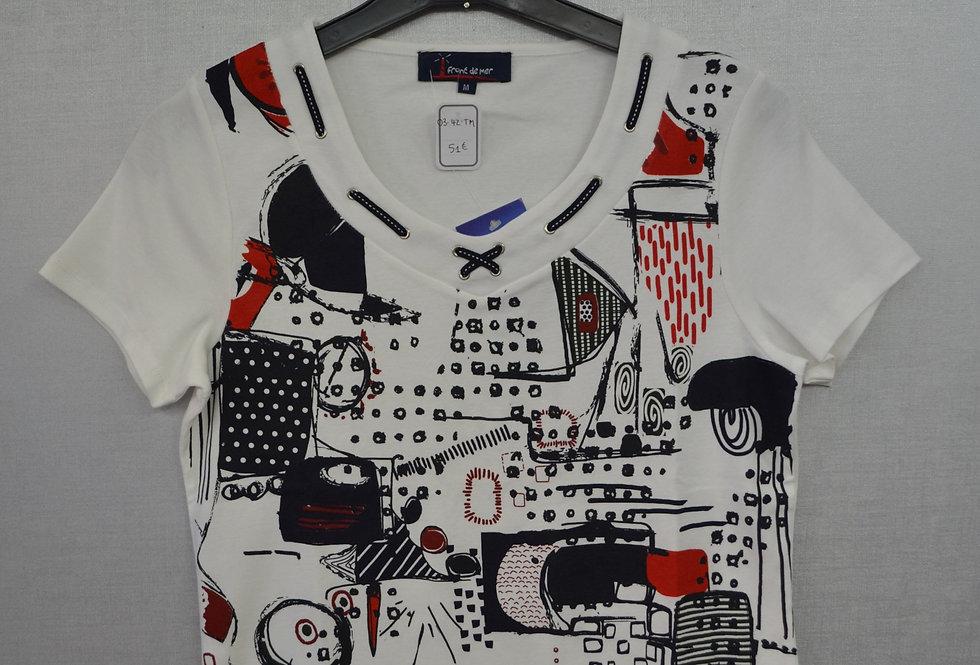 "Tee-shirt  ""FRONT DE MER"" 03/42"