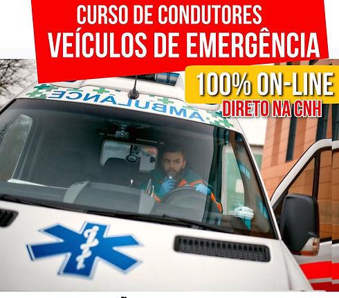 Curso Condutor de Emergência Online Amigão da Estrada