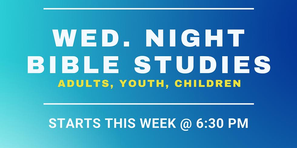 WEDNESDAY NIGHT BIBLE STUDIES