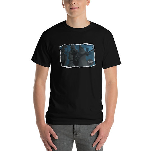 Men's Short Sleeve T-Shirt - Mia and the Curse of Camelot (The Cursed Statues)