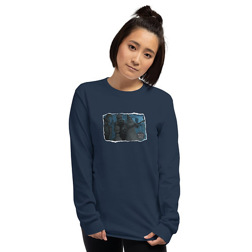Adult Unisex Long Sleeve Shirt - Mia and the Curse of Camelot (Statues)