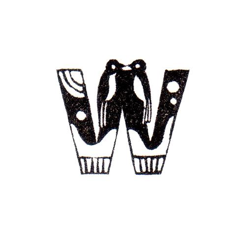 Bird Alphabet - W