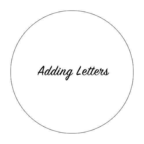 Adding Letters