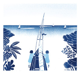 ヨットをあたたかな海へ