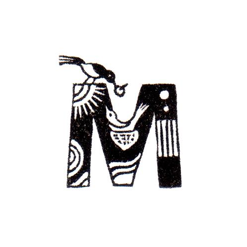 Bird Alphabet - M
