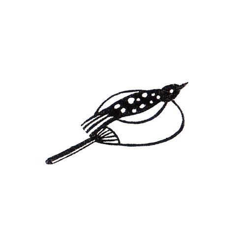 Bird on a Fan - Sitting