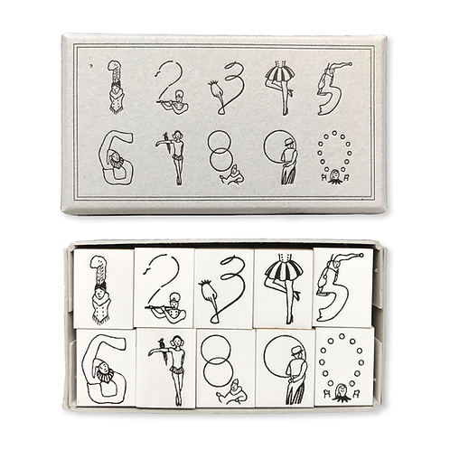 Number Rubber Stamps of the Circus