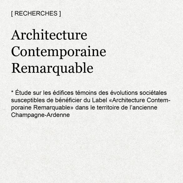 Architecture Contemporaine Remarquable