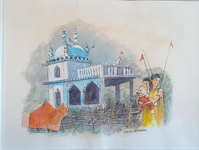 29. Travel sketch India - Croquis de voyage Inde