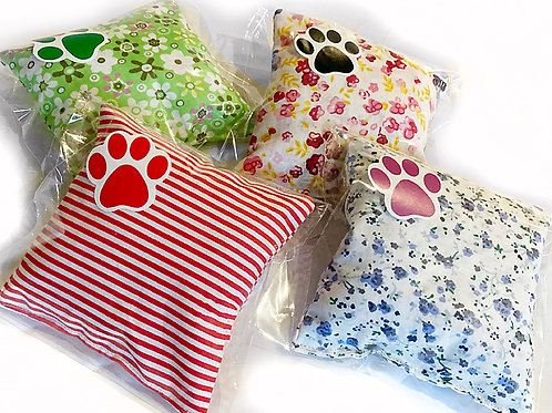 Cushions bursting  with 100%  valerian & catnip  happiness for your cat