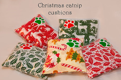Christmas  Cushions bursting with 100% catnip happiness for your cat.