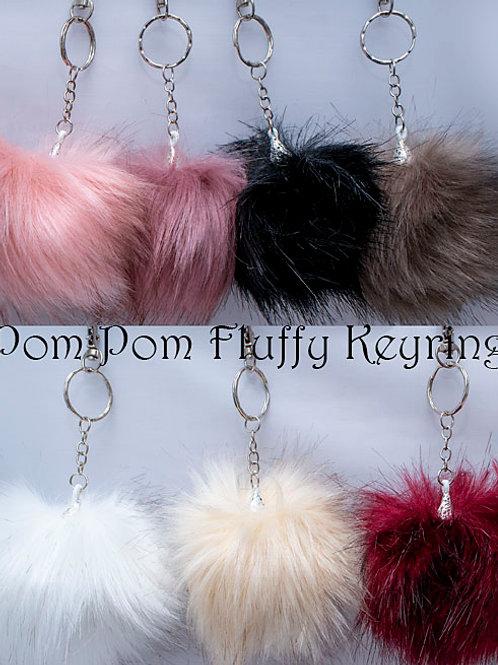 Pom Pom Fluffy Keyrings