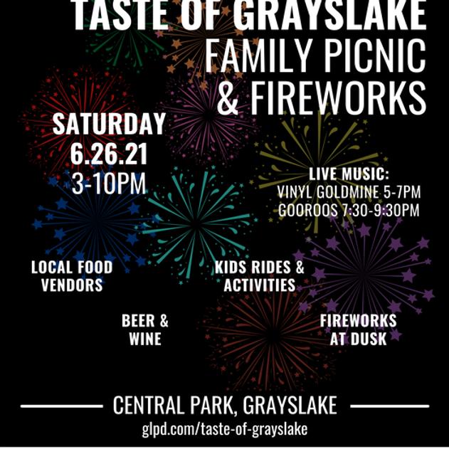 Taste of Grayslake Family Picnic & Fireworks