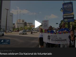 Recifenses celebram o Dia Nacional do Voluntariado