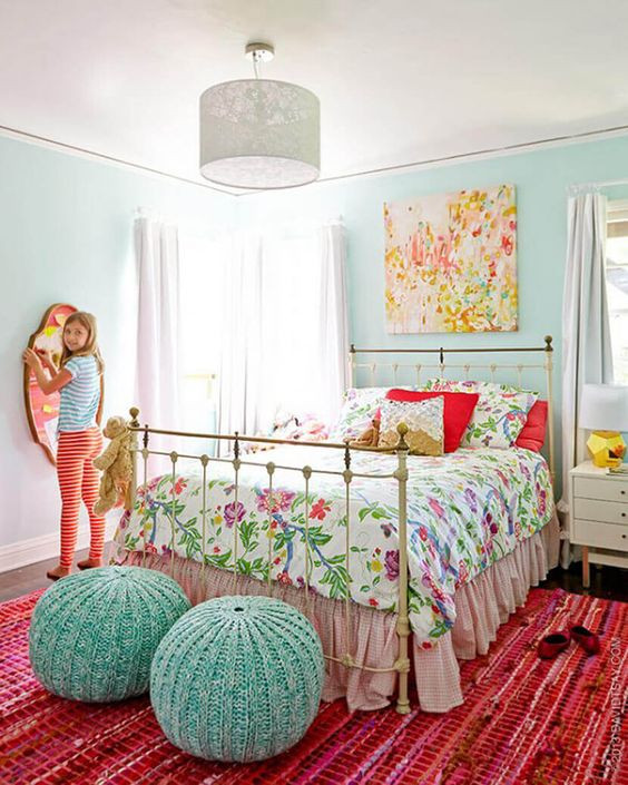 Light Aqua Girl's Room