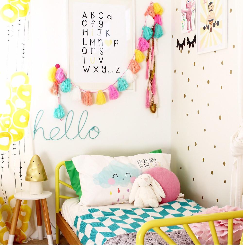 Cute bedroom by Four Cheeky Monkeys