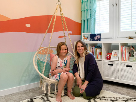 Reveal! Funshine Girls Room Install & Styling