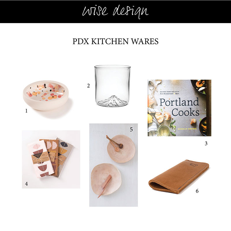 portland gift picks for table top and kitchen wares
