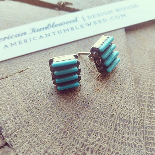 native turquoise earrings