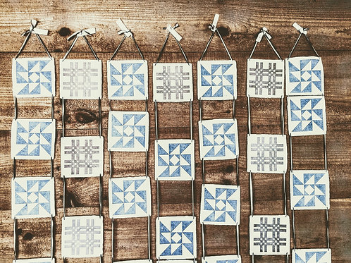 letterpress quilt by American Tumbleweed