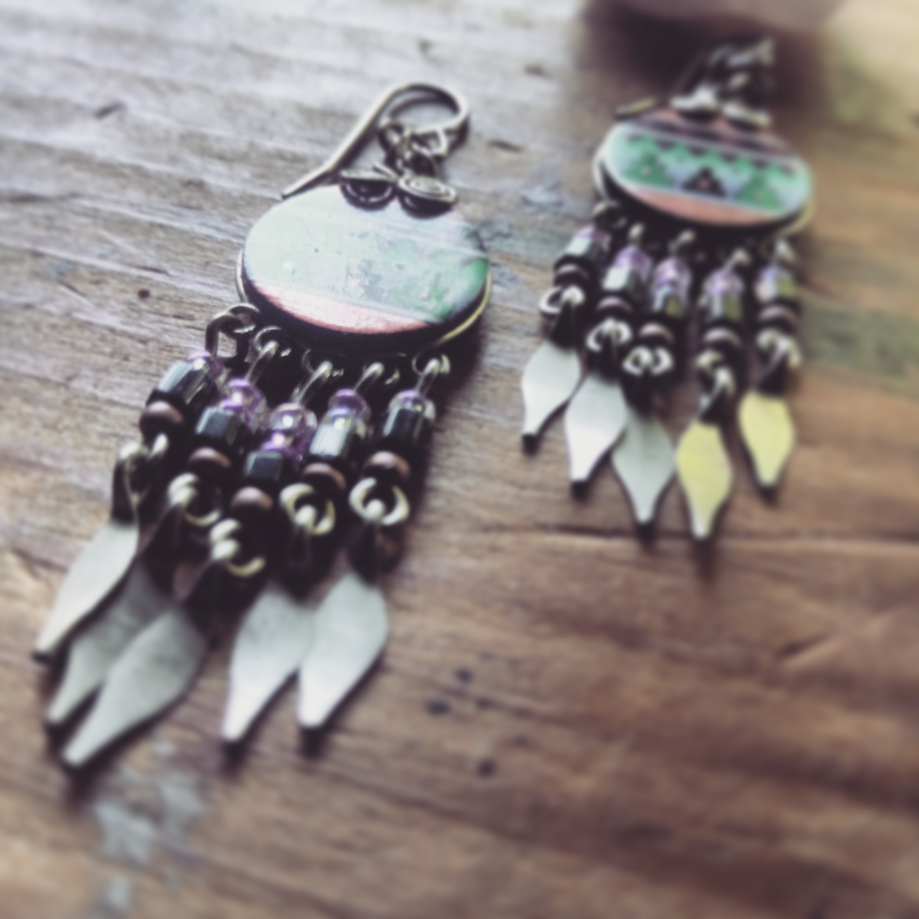 american tumbleweed_earrings_native print 1