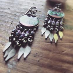 american tumbleweed_earrings_native print 1
