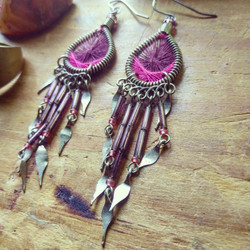 american tumbleweed_woven earrings