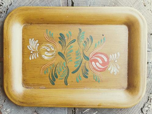 vintage handpainted folk art tray
