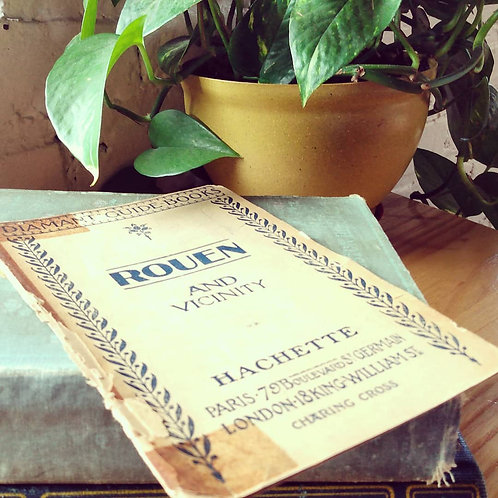 antique find: diamont guide books: rouen and vicinity 1926