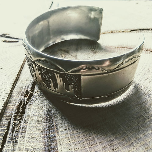 Navajo Sterling Silver Cuff