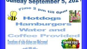 Come fellowship at our Labor Day Picnic!!