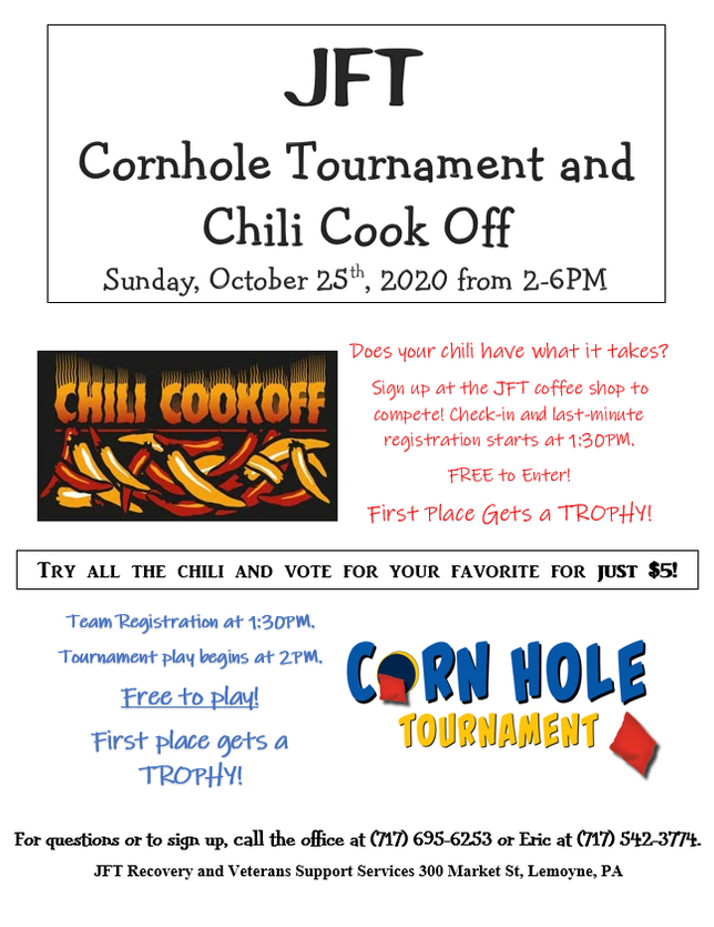 Chili and Cornhole Tournament