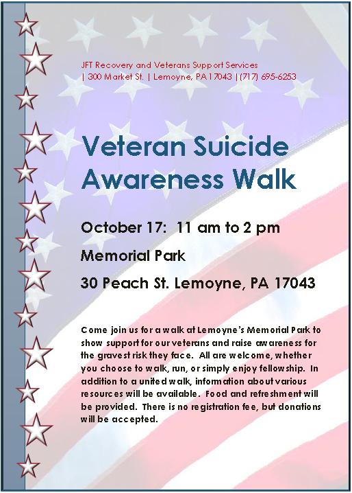 Veteran's Suicide Awareness Walk