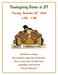 Thanksgiving at JFT
