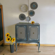 TV Cabinet in blended blue and grey