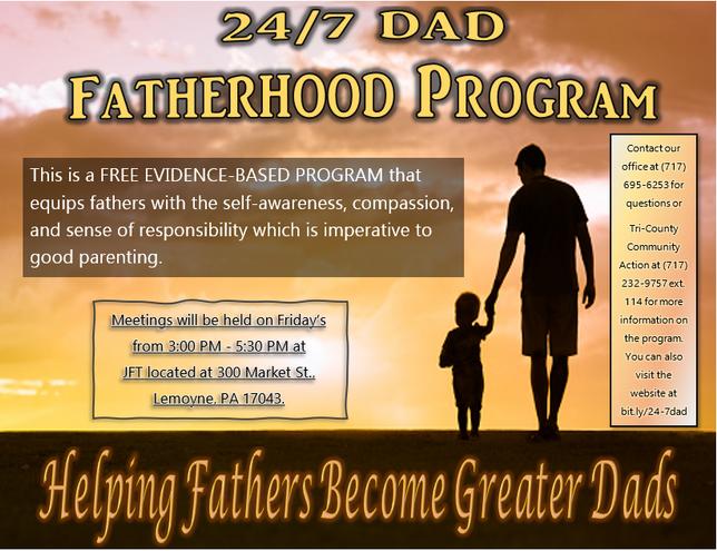 24/7 Dad Fatherhood Program starting 10-16-2020