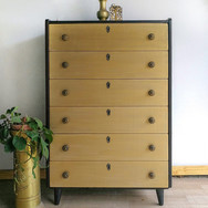 Gold blend and black drawers