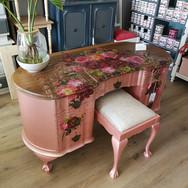 Rose Gold Desk with Rose Celebrations Transfer
