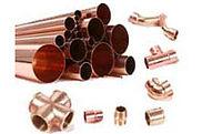 Tubos e conexões de cobre para instalações de água quente e gás