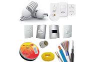 Trabalhamos com fios e cabos de várias bitolas. Temos uma grande variedade de baixa tensão : interruptores, tomadas, disjuntores, conduítes, eletrodutos em PVC e galvanizados, canaletas, sistema X, reatores, lâmpadas, etc